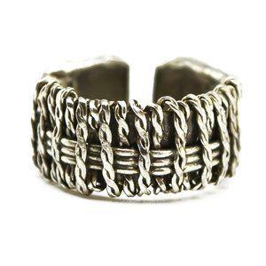 Anju Handcrafted Basketweave Ring